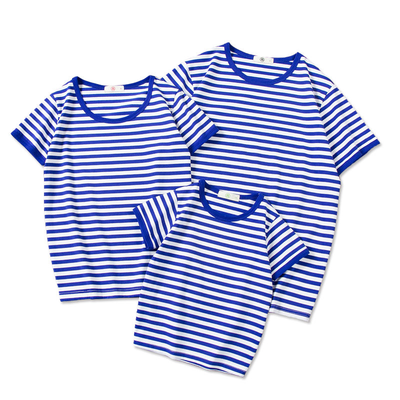 2021 new trendy sea soul sweater, parent-child summer dress, a family of three and four, womens dress, Xinjiang cotton short sleeve T-shirt