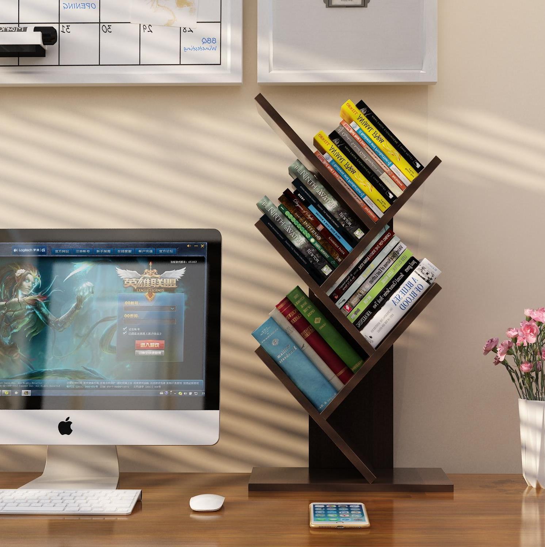 (用15元券)小型书架简易两层省空间家用上书桌