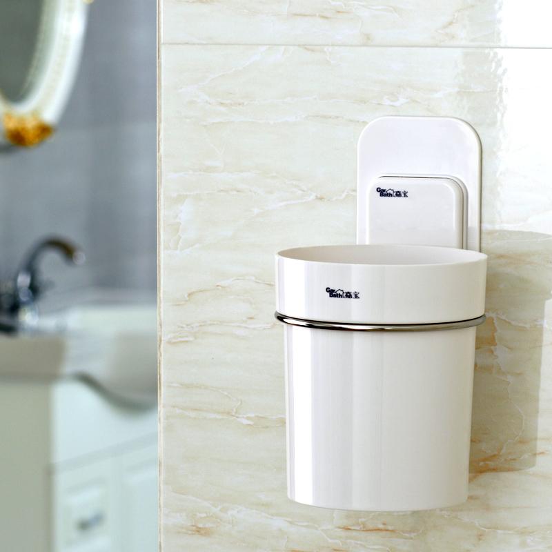 嘉寶衛生間浴室置物架 洗手間不鏽鋼壁掛收納架子 梳子收納筒
