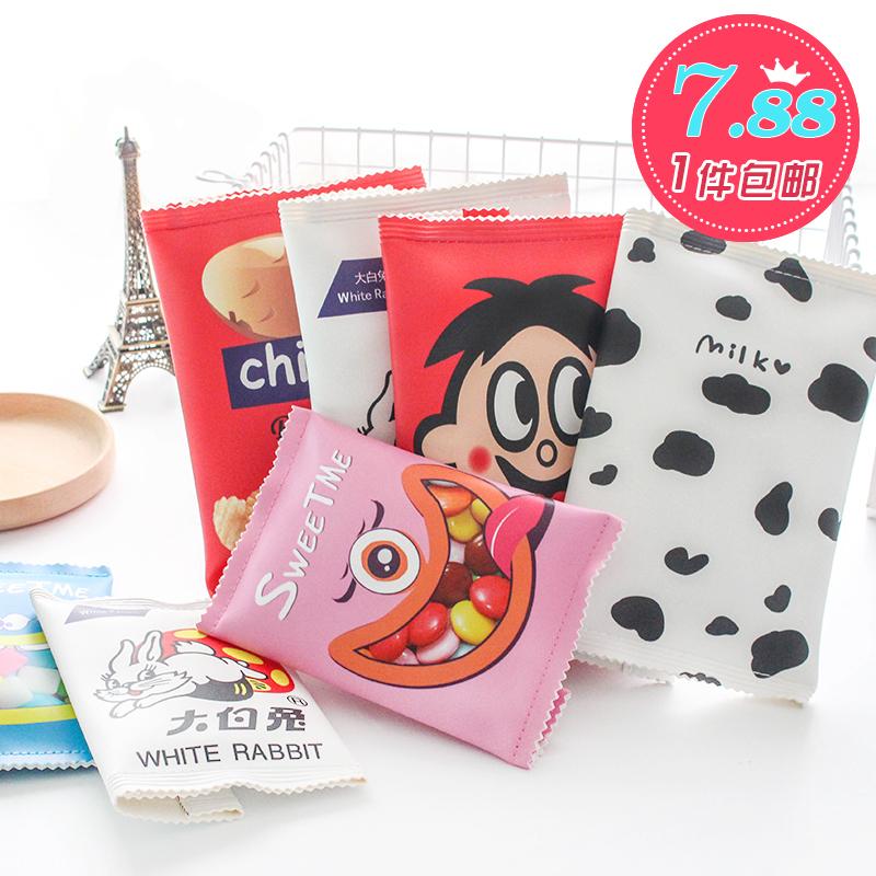 韩国文具笔盒男女生简约零食文具袋创意学生大容量韩版铅笔袋包邮