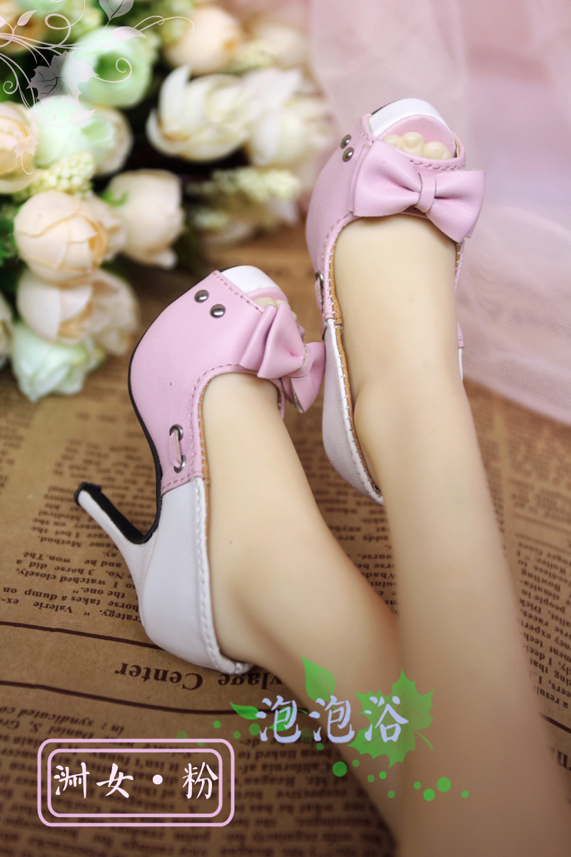 Exclusive {bubble bath} BJD Shoes / sd16 / 3 lady style butterfly high heels in four colors