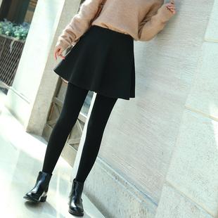 毛呢a字半身裙秋冬小黑裙短裙女高腰顯瘦大擺百褶裙蓬蓬傘裙褲裙