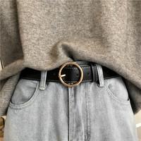 Корейский винтаж круглый с застежкой Пояс женский широкий и простой дикий корейская версия для отдыха стрелка с застежкой ремень Студенческое украшение джинсы зона
