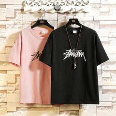 挂拍砖 T1025/P20 100%棉 2020夏季新款大码宽松短袖T恤男