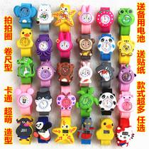 儿童玩具手表电子表啪啪圈小男孩女孩幼儿超萌卡通果冻拍拍表包邮