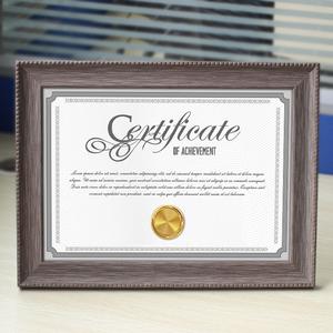 宜家居证书框挂墙A4工商a3营业执照框奖状框摆台授权书画框8k相框