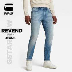 GSTAR RAW2021秋季新款男士Revend潮流牛仔长裤51010 YS