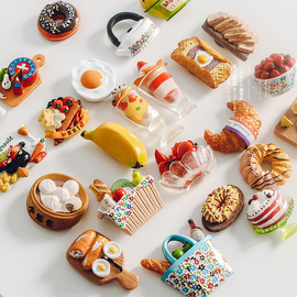 有趣树脂冰箱贴食物冰箱贴冰箱门装饰贴留言贴磁性磁力贴仿真食玩