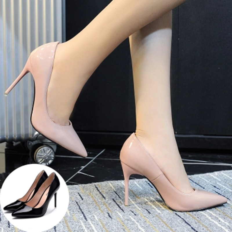 2017 spring and autumn new small shoes 31 32 33 pointed super high heels thin heel large women's shoes 41-43 single shoes