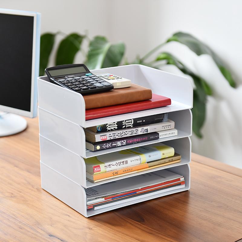 办公室桌面收纳盒放a4纸文件资料票据用品储物置物架文具架整理盒图片