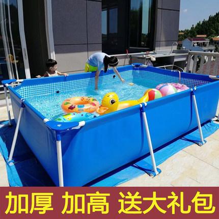 大型儿童成人支架游泳池超大家用家庭免充气户外折叠加厚水池鱼池
