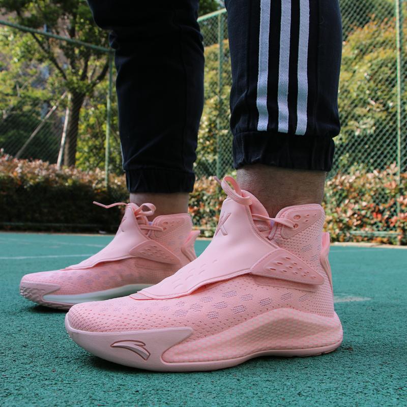 安踏汤普森KT6篮球鞋男春高帮运动鞋球鞋白色情人节配色112011101