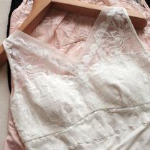 气质V领背心吊带女 莫代尔内搭蕾丝花边T恤 欧根纱显瘦亲肤打底衫