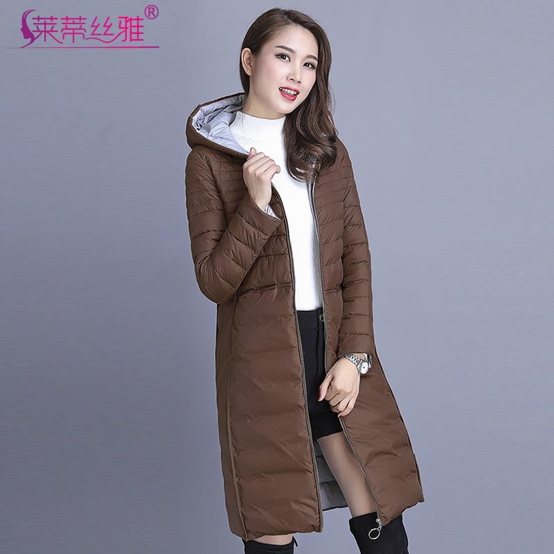 冬装新款时尚休闲中长款轻薄款羽绒棉服女士胖MM大码棉衣棉袄外套