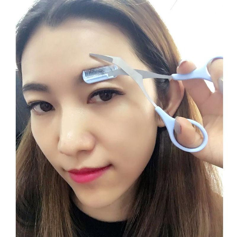 Litfly丽塔芙 韩式修眉剪刀带眉梳化妆剪修眉刀修眉神器 眉毛削薄