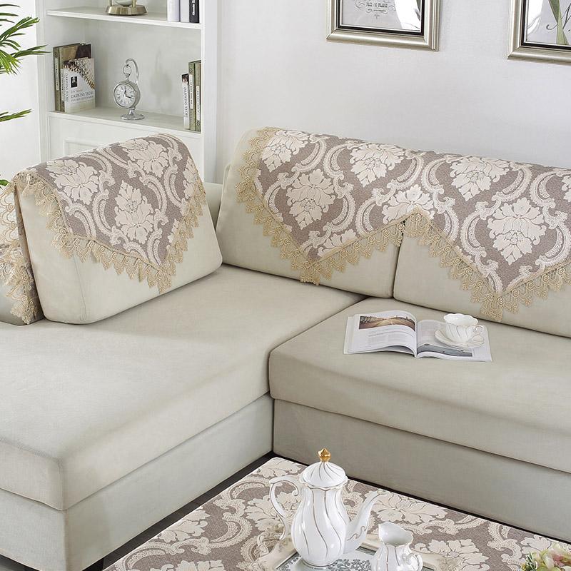 Тайский вышивать континентальный ткань диван полотенце коричневый три сочетание диван полотенце простой современный бересклет полотенца
