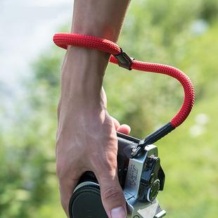 佰卓微单相机腕带旁轴手绳佳能G7X M6 M50 M10索尼A6400 A7M3 A9徕卡Q TL富士XT3拍立得便携登山腕绳单反配件图片