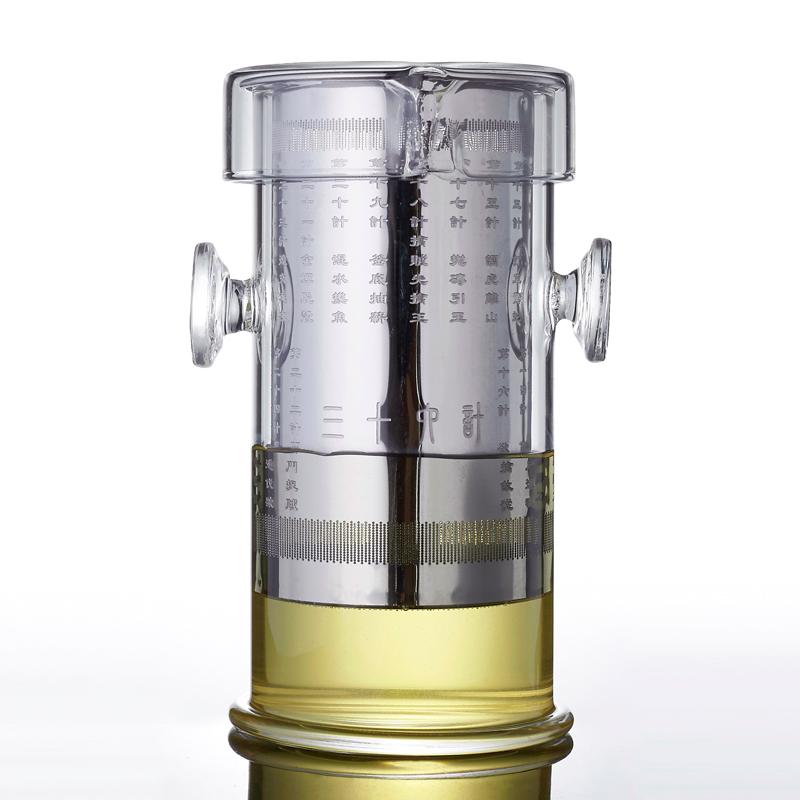 雯晨玻璃泡茶器功夫小茶壺 琉璃雙耳杯不鏽鋼過濾花茶杯紅茶茶具