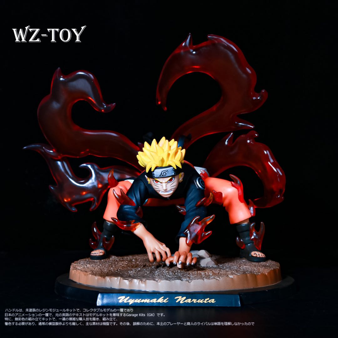 Naruto GK Naruto hand made nine tail demon fox tail animal end Valley duel hand made model ornaments