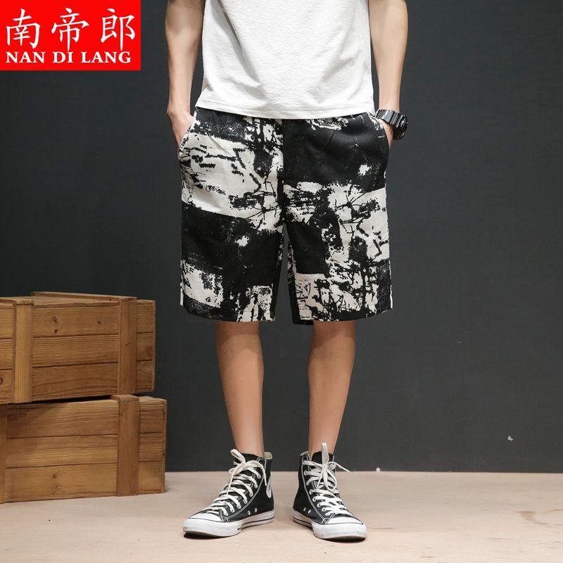 Mens loose casual straight ins sports Capris summer 2021 camouflage new shorts are versatile to wear outside