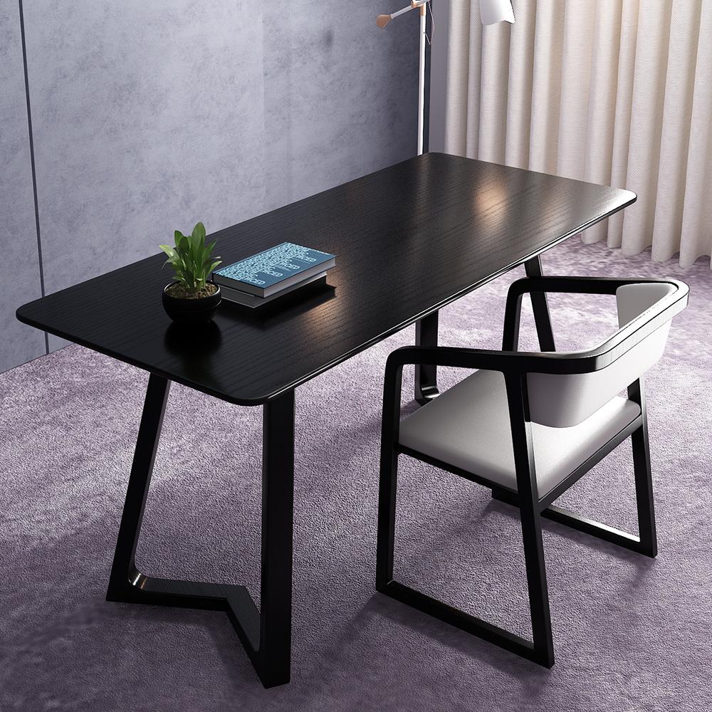 北欧の書斎の家具はイタリア式が極めて簡単で現代的で、ファッションが簡単で、高級な書斎台の白い蝋の木です。