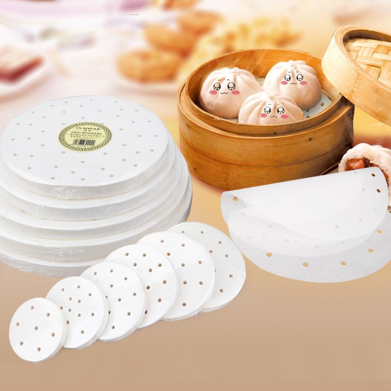 楼尚蒸笼纸不粘圆形包子纸馒头纸垫一次性家用屉蒸笼布蒸锅油纸垫