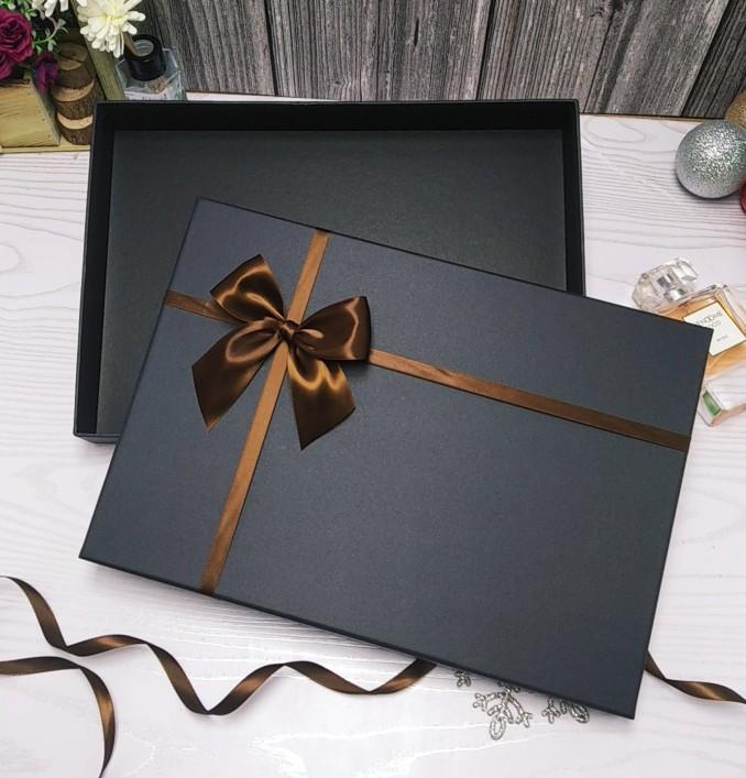 简约咖啡色长方形礼品A3A4大号画册油画书本纸盒围巾礼物盒定做盒