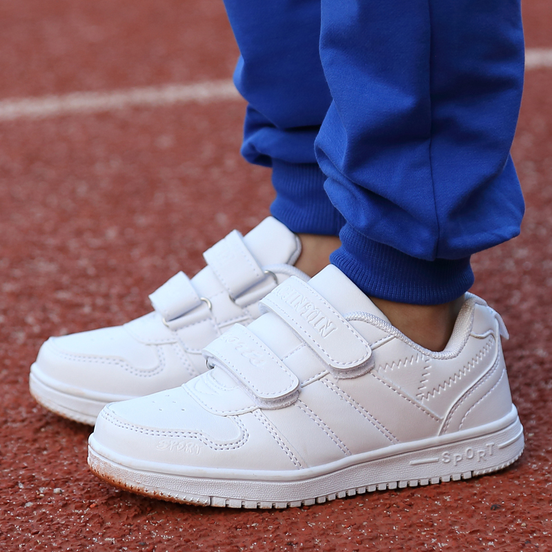 Autumn 2018 new white childrens shoes childrens white sneakers boys and girls students white board shoes white wave shoes