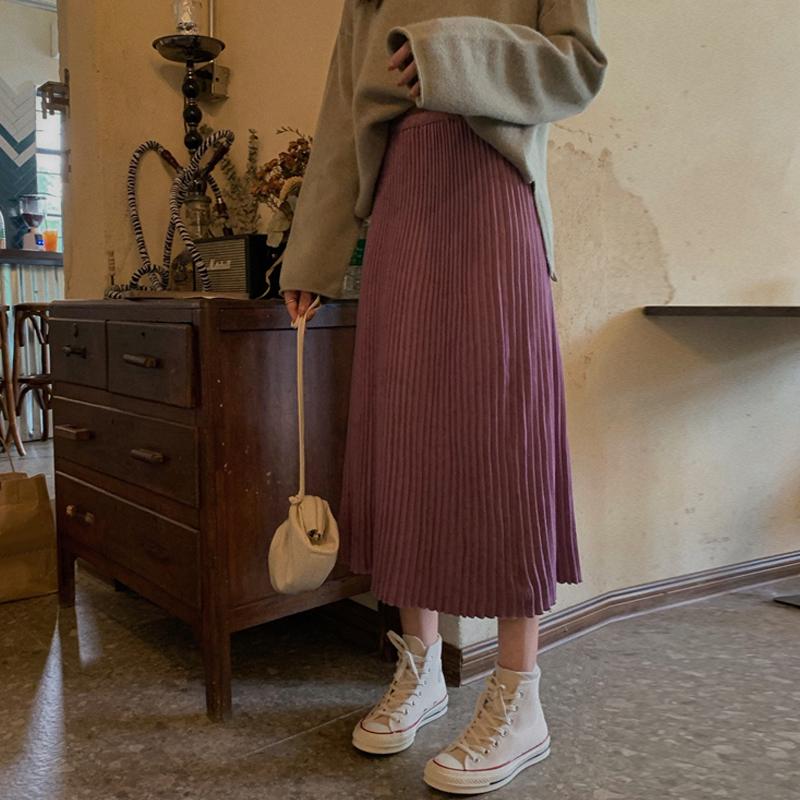 2019新款秋季高腰显瘦中长款半身裙29.98元包邮