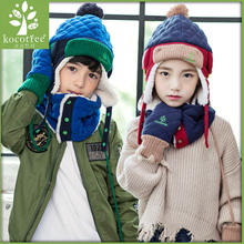 KK tree, children's hat, winter Baby Hat, autumn and winter boys, girls, Korean version, children's velvet, hat and hat.