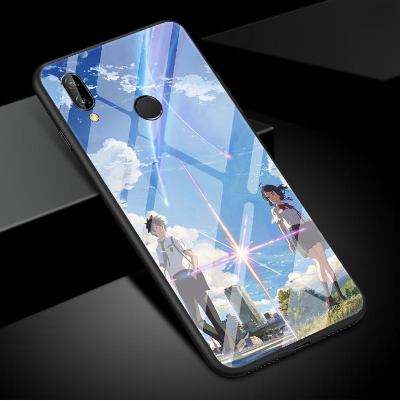 你的名字手机壳华为nova3e玻璃二次元日本动画青春版男款女生卡通华为nova3手机壳新海诚nove3e手机壳3i