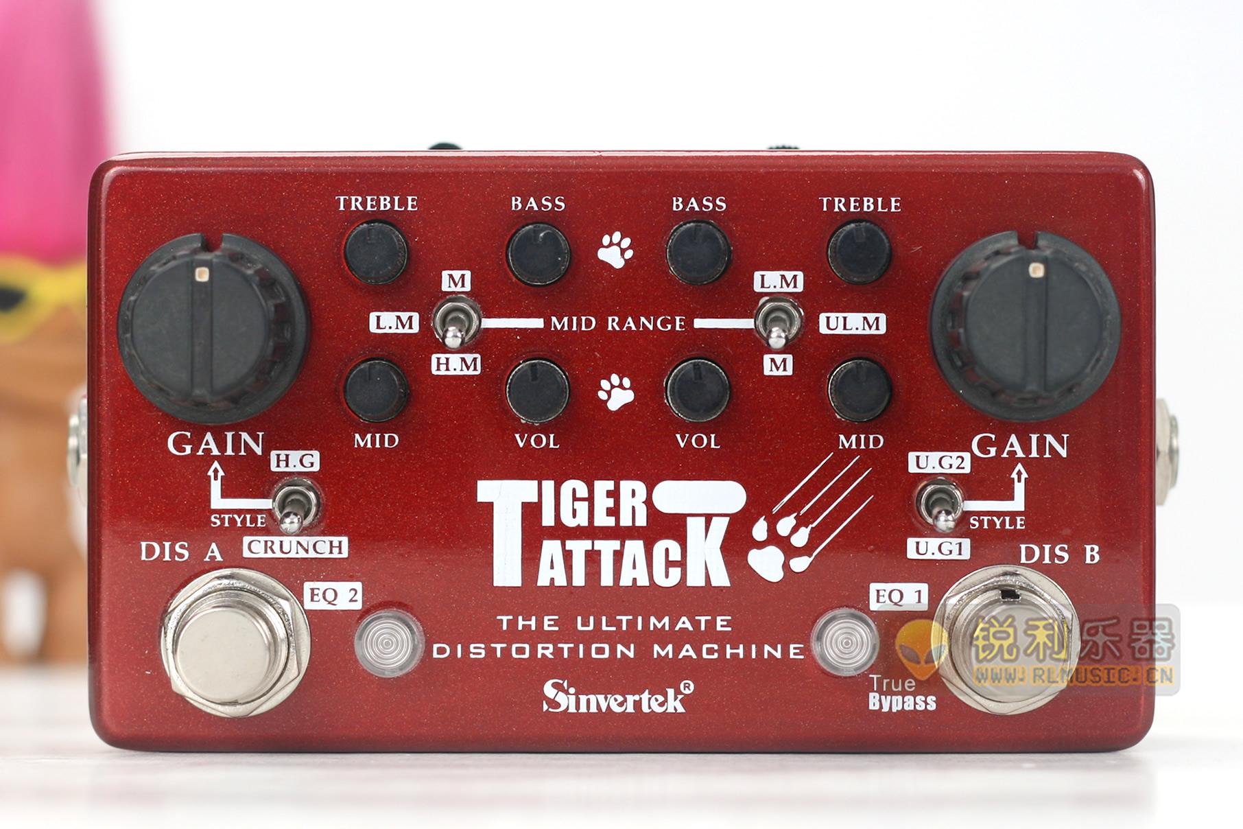 【Sinvertek Tiger Attack】仙音维克终极失真效果器【锐利乐器】