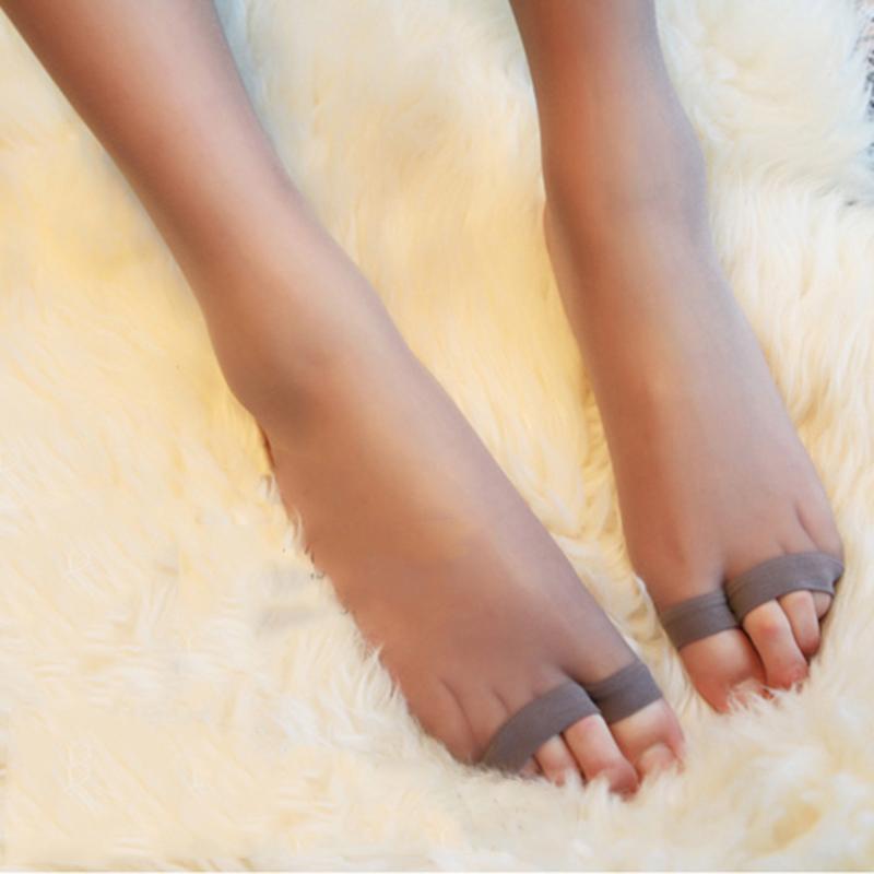 高端 日系超薄3D魔术袜 鱼嘴袜 天鹅绒超弹力露趾袜女肉色丝袜限9000张券