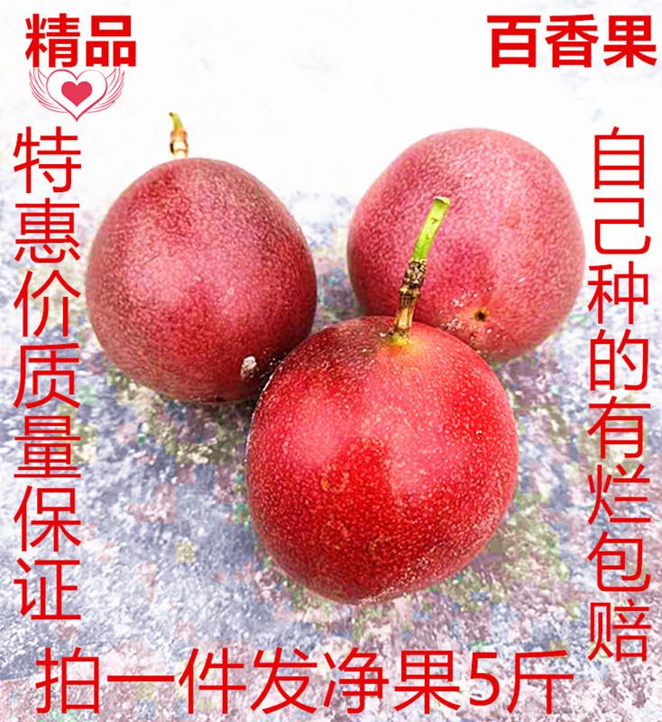 云南台农一号新鲜紫香百香果拍一件发5斤包邮有烂包赔精品红果