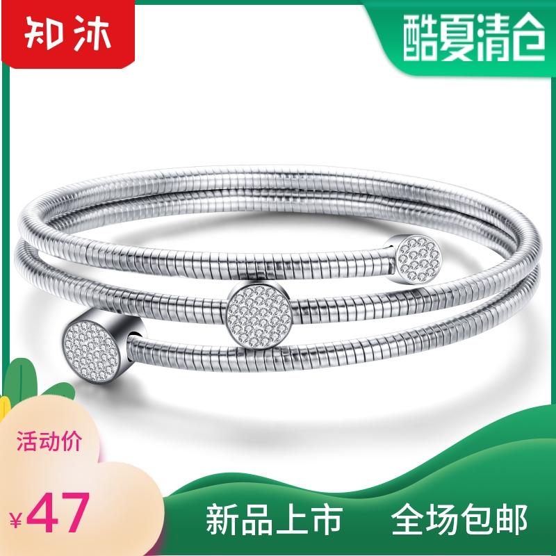 Mud diamond titanium steel snake chain bracelet fashion simple jewelry womens bracelet jewelry color protection