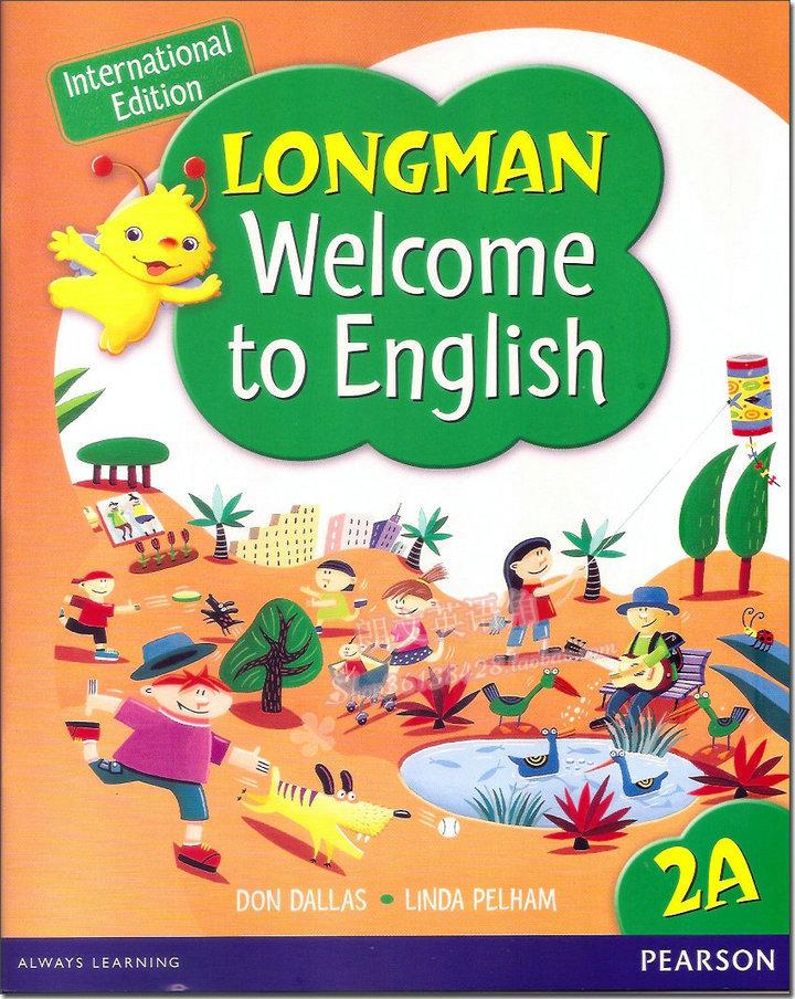 Genuine Hong Kong primary school textbooks Longman Longman Welcome to  English 2A ( including DVD )