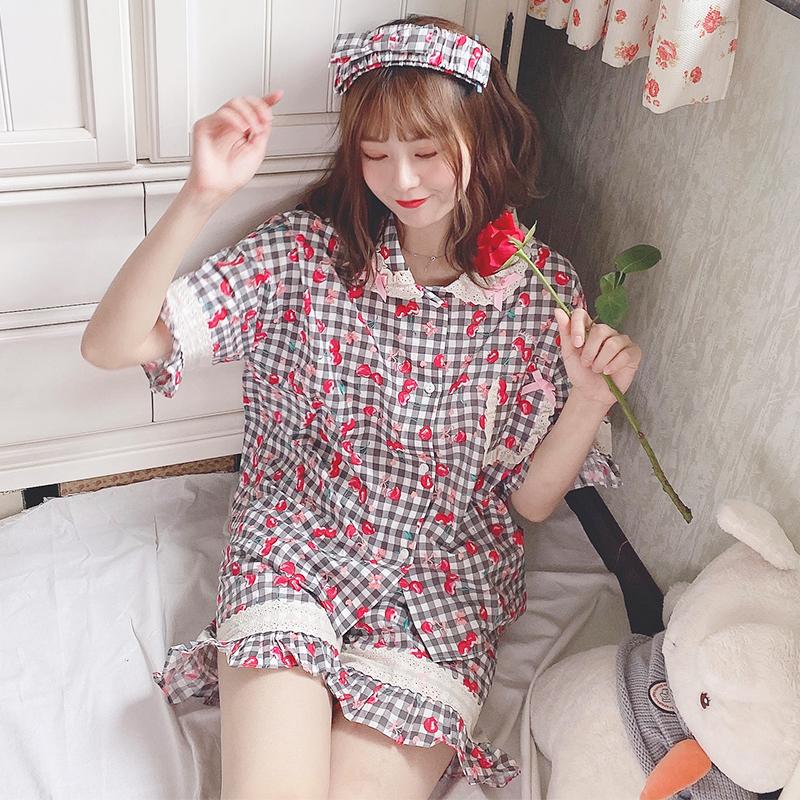 日系原创睡衣女夏可爱薄款软妹萝莉卡哇伊甜美短袖宽松全棉家居服