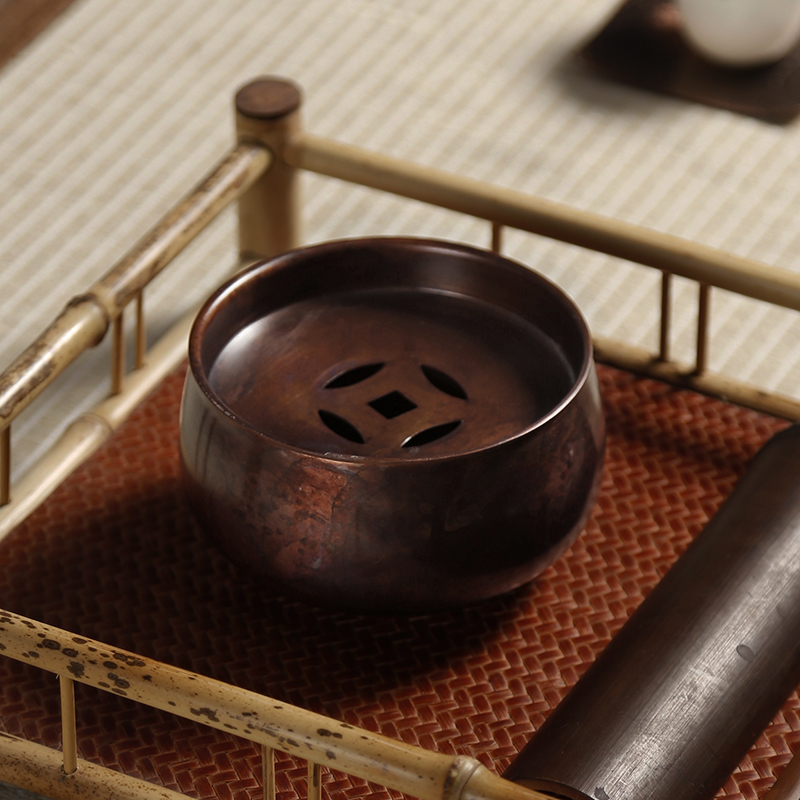 纯铜茶洗水盂大号功夫茶具配件茶道泡茶碗杯洗工具茶渣桶建水笔洗