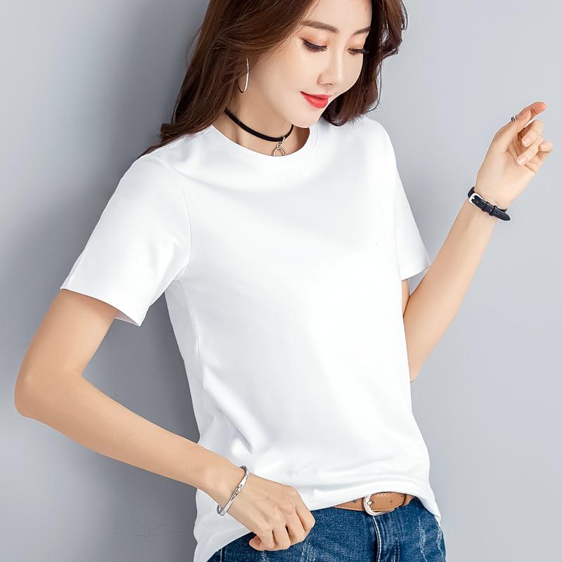 纯棉宽松t恤女短袖t桖ins白色半袖体恤2021新款潮春夏季短款上衣