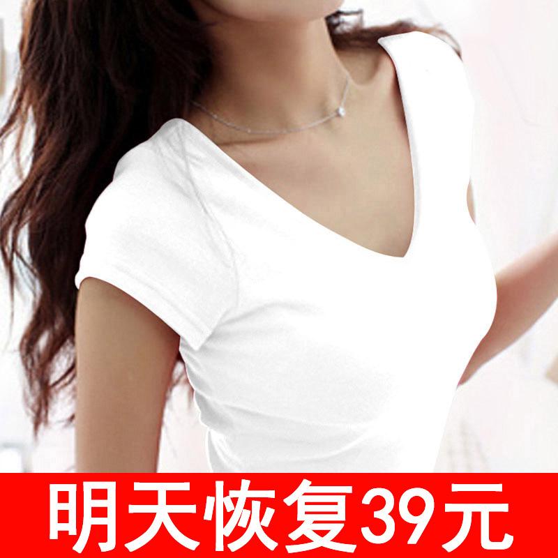 新款纯白色t恤女短袖夏季打底衫