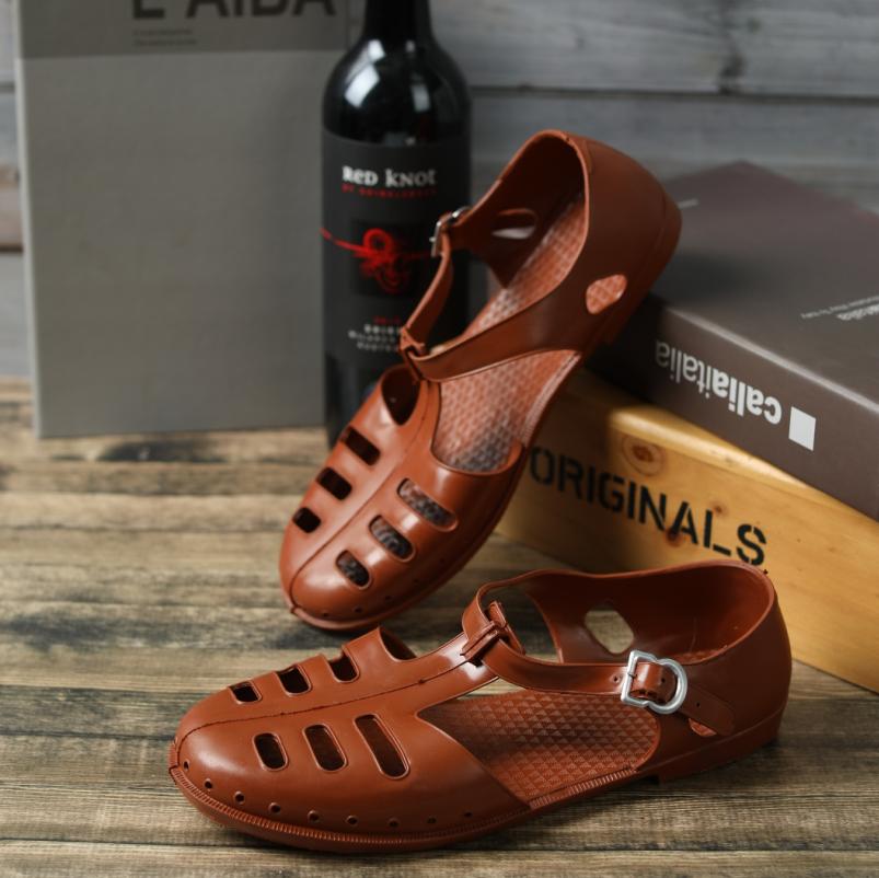 包邮解放鞋35417劳保工作鞋橡胶包头罗马复古怀旧老式军越南凉鞋