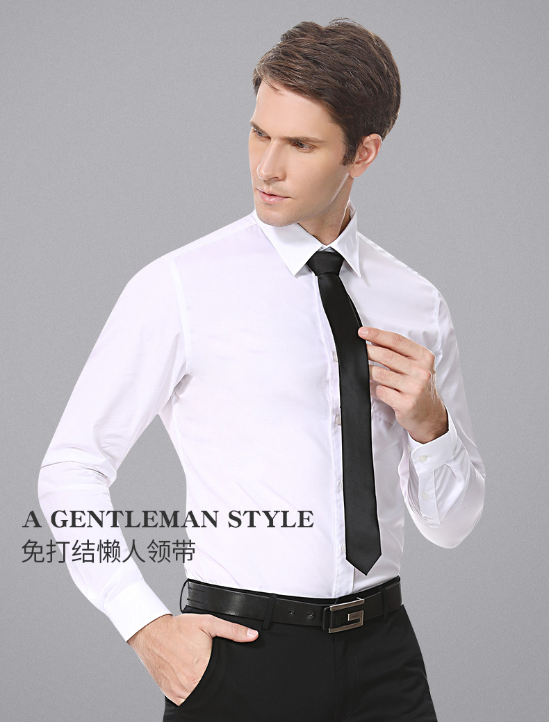 Lazy Men Black Tie Shirt Men's Suit Business 5cm Korean Women's Zipper