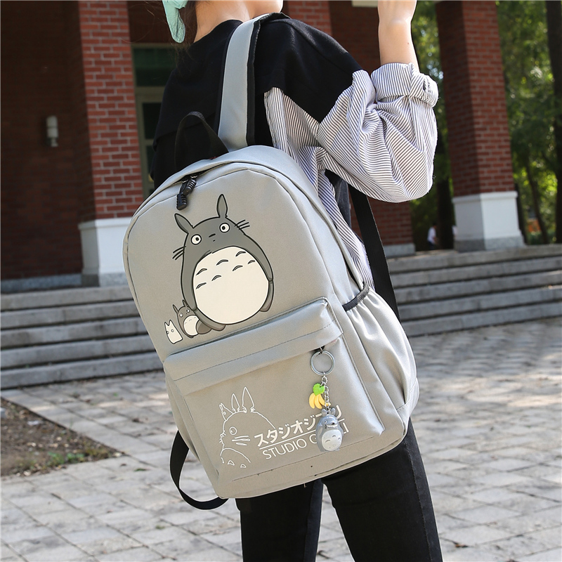 Cartoon printed backpack for junior and senior high school students
