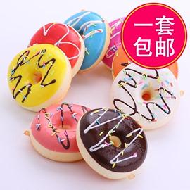 包邮甜甜圈仿真面包食物甜品蛋糕模型家居饰品摄影道具 早教玩具图片