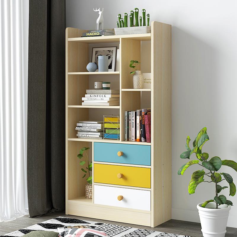 需要用券新时代靠墙书架落地多层家用收纳柜
