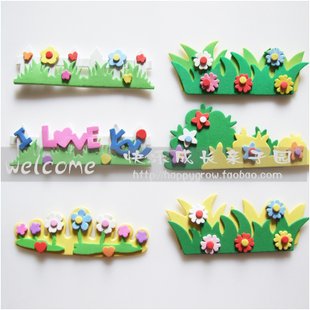 Kindergarten classroom environment layout decorative wall stickers foam mini flower fence railing Limited Time Special