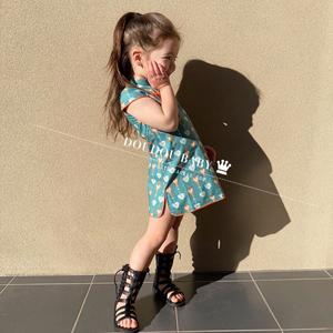 女童中国风公主裙洋气儿童旗袍裙子