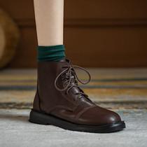 电影452DD9秋切尔西短靴女铆钉休闲皮靴2019天美意商场同款聚