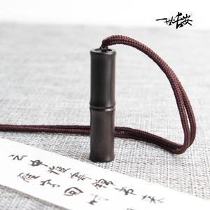 雁來書 檀木鴿子傳信小竹筒信筒吊墜項鏈中國風古風 刻字不退換