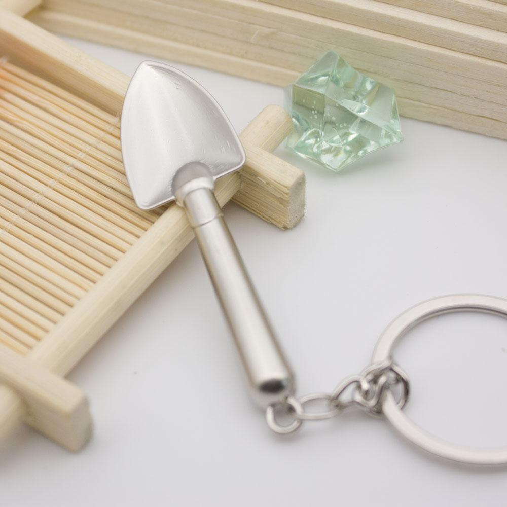 Mini White shovel model pendant creative cute shovel all metal mini tools Jewelry
